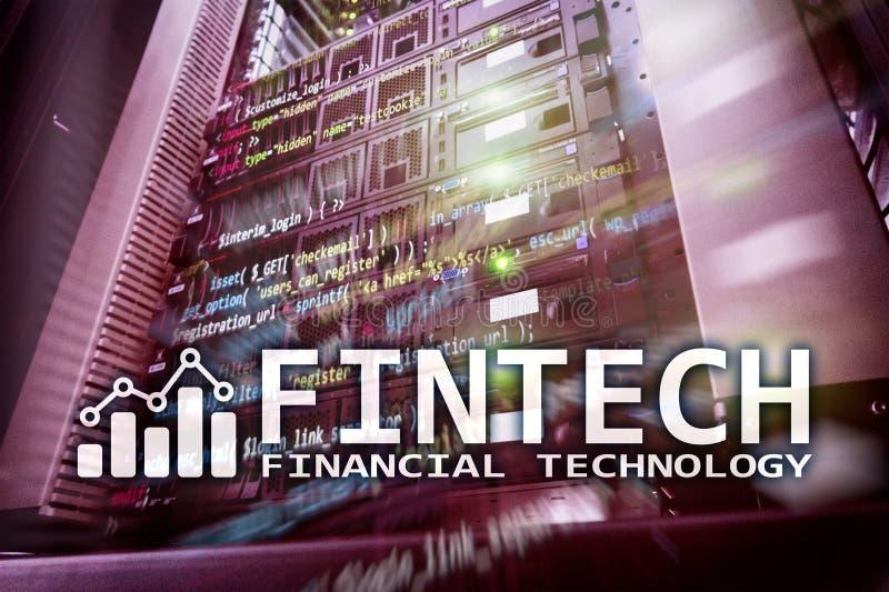 Fintech - technologie financière Solution d'affaires et développement de logiciel image stock