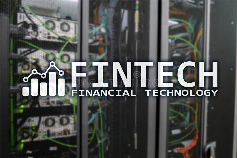 Fintech - technologie financière Solution d'affaires et développement de logiciel photographie stock
