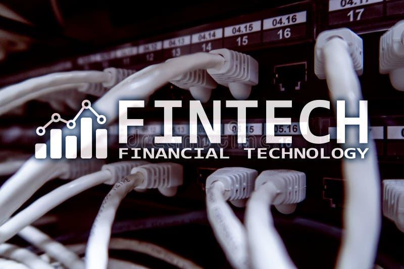 Fintech - technologie financière Solution d'affaires et développement de logiciel photos stock
