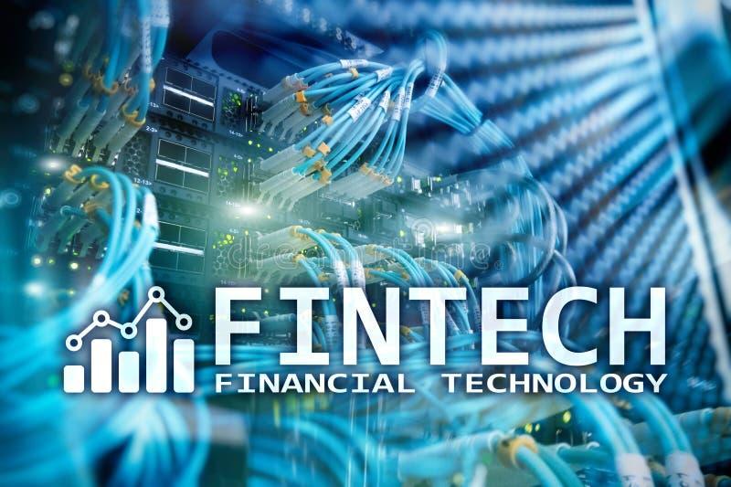 Fintech - technologie financière Solution d'affaires et développement de logiciel photo libre de droits