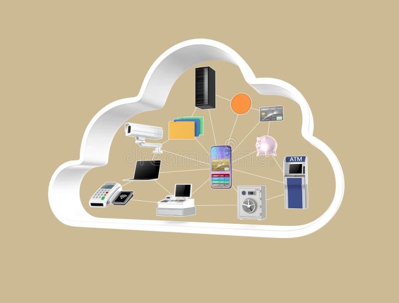 Fintech technologii pojęcie zdjęcie royalty free