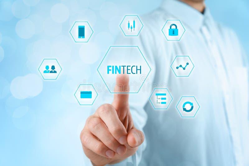 Fintech und Finanztechnologie stockfotografie
