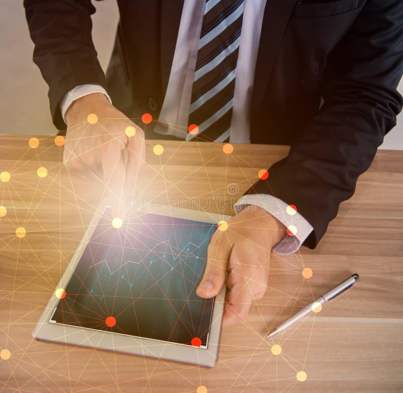 Fintech voor doel en KPI stock foto's