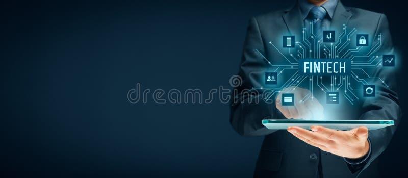 Fintech y tecnología financiera imagenes de archivo