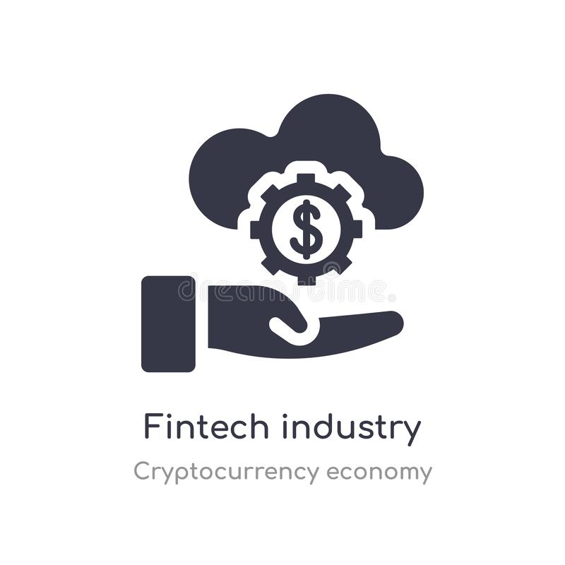 fintechbranschsymbol isolerad illustration för vektor för fintechbranschsymbol från cryptocurrencyekonomisamling redigerbart sjun stock illustrationer