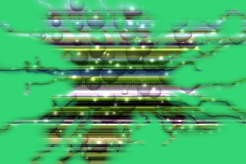 Fiołek zieleń gulgocze tło, iskrzasty abstrakcjonistyczny tło royalty ilustracja
