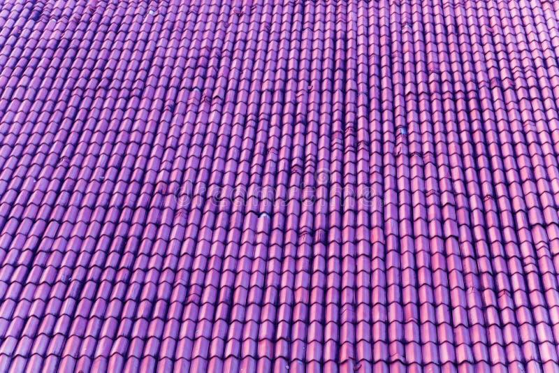 fiołka dach z ceramicznymi płytkami fotografia stock
