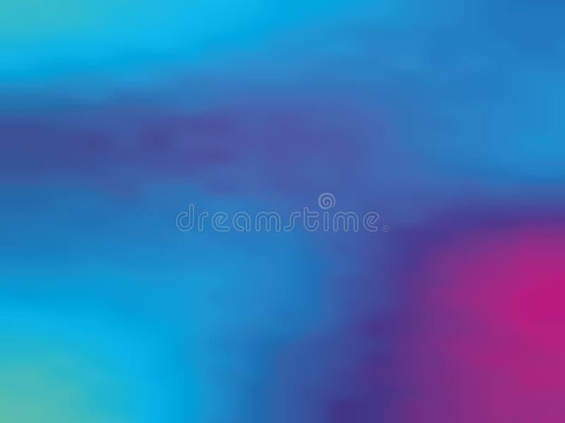 Fiołka gradientowy holograficzny tło Stylowy 80s - 90s Kolorowej tekstury projekta wektoru Minimalna ilustracja ilustracji