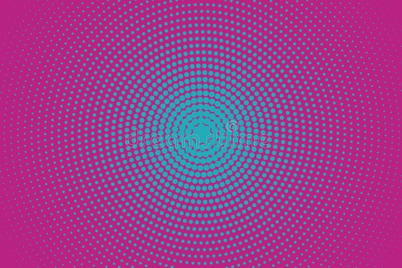 Fiołka halftone wzór wystrzał sztuki styl Cyfrowego gradient również zwrócić corel ilustracji wektora royalty ilustracja