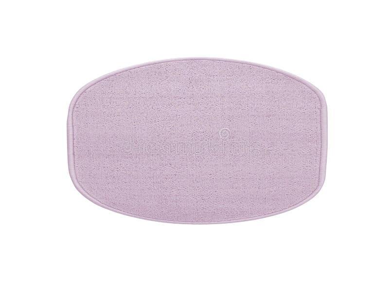 Fiołka kąpielowy dywanik odizolowywający na bielu obraz royalty free