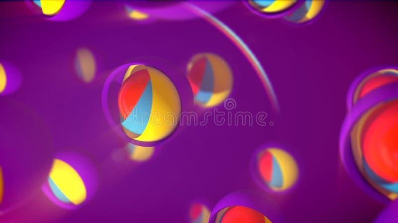 Fiołkowe sfery od Gniazdować piłek ilustracja wektor