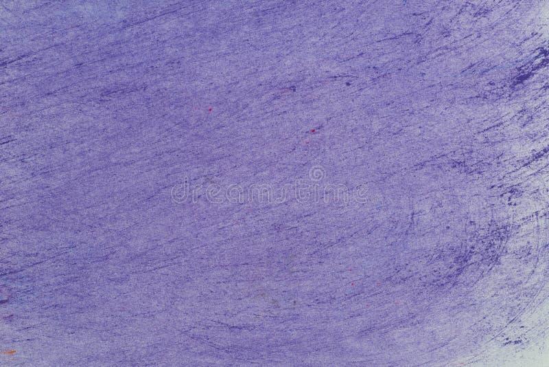 Fiołkowej sztuki tła pastelowa kredkowa tekstura royalty ilustracja