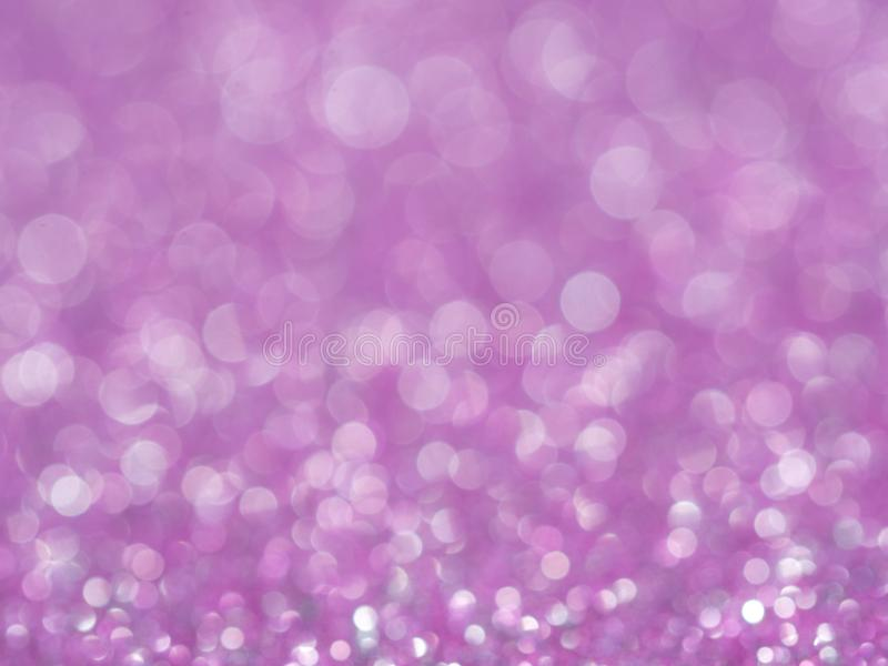 Fiołkowy abstrakcjonistyczny błyskotliwości tło z bokeh światło miękkiej części rozmyte menchie dla romansowego tła, lekki bokeh  zdjęcie royalty free