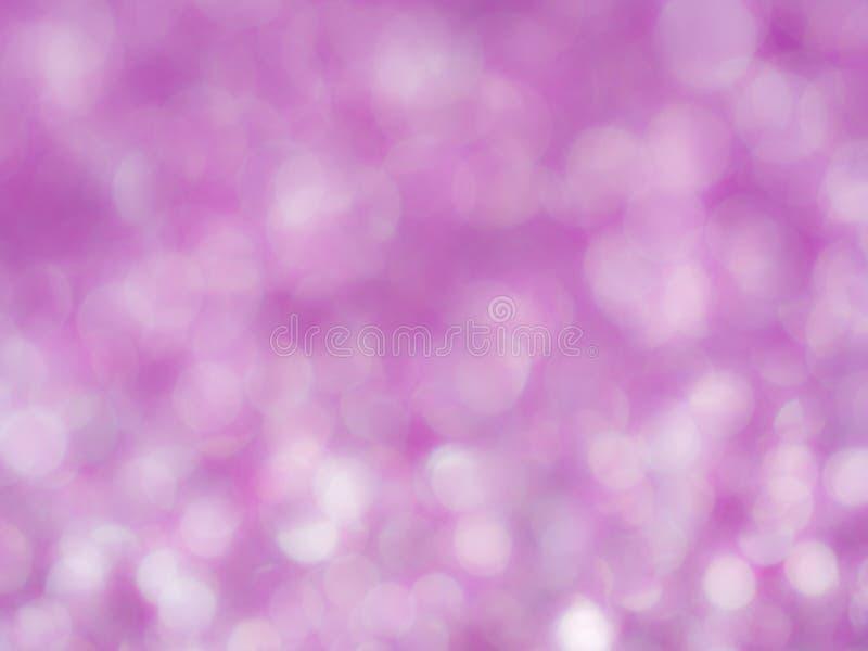 Fiołkowy abstrakcjonistyczny błyskotliwości tło z bokeh światło miękkiej części rozmyte menchie dla romansowego tła, lekki bokeh  fotografia royalty free