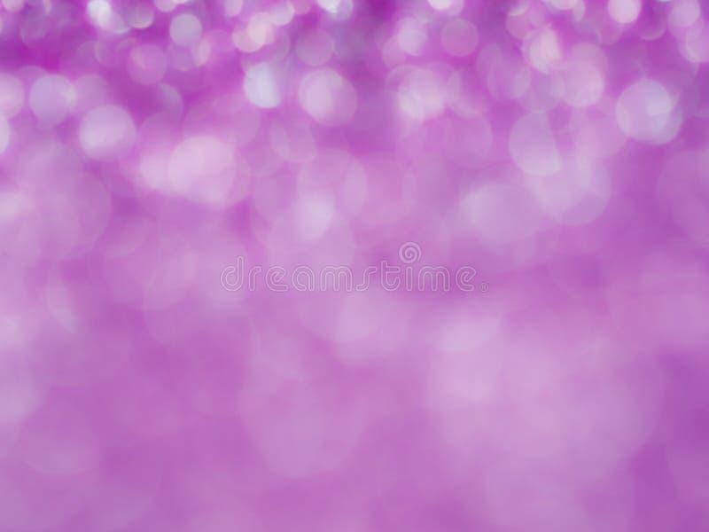 Fiołkowy abstrakcjonistyczny błyskotliwości tło z bokeh światło miękkiej części rozmyte menchie dla romansowego tła, lekki bokeh  fotografia stock