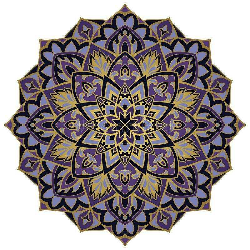 Fiołkowy abstrakcjonistyczny mandala ilustracji