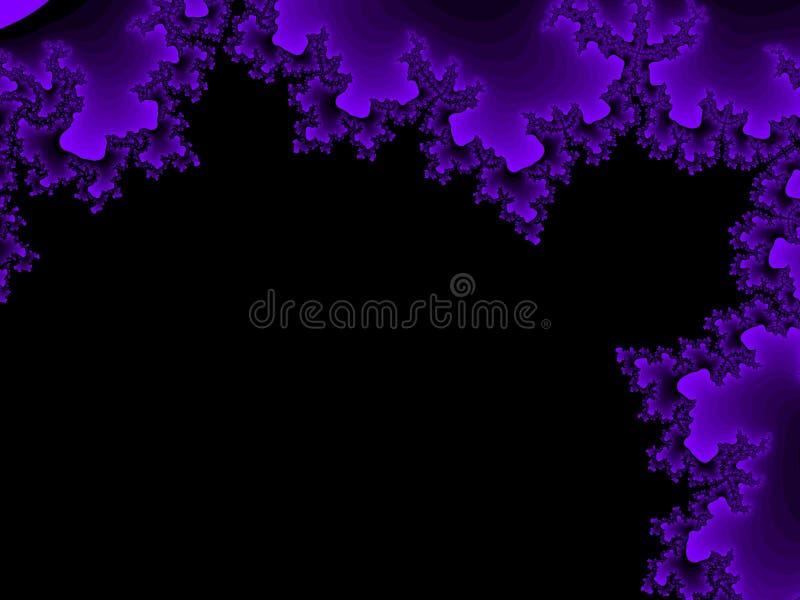 Fiołkowy fractal tło ilustracji
