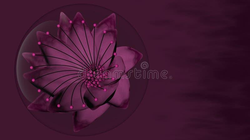 Fiołkowy kwiat w bąblu obraz royalty free