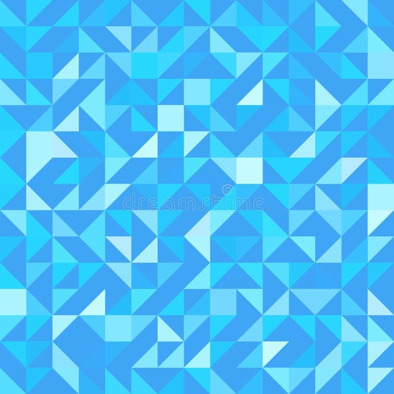 Fiołkowy triangulated tło Wektorowy nowożytny geometrical tło z trójbokami bezszwowy wzoru błękitny kolory modny ilustracji