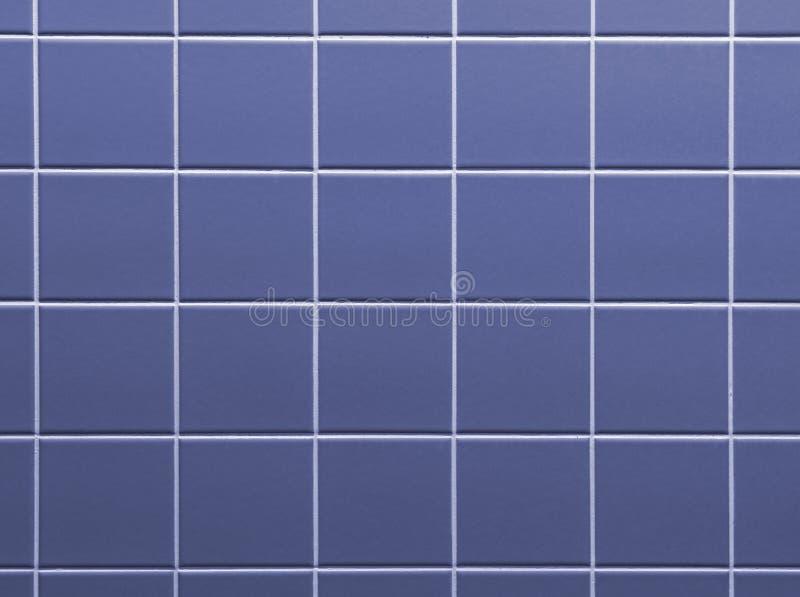Fiołkowych błękitnych płytek łazienki ściany tła ceramiczna tekstura fotografia stock
