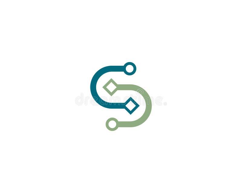 Fio, ícone do logotipo do cabo ilustração do vetor