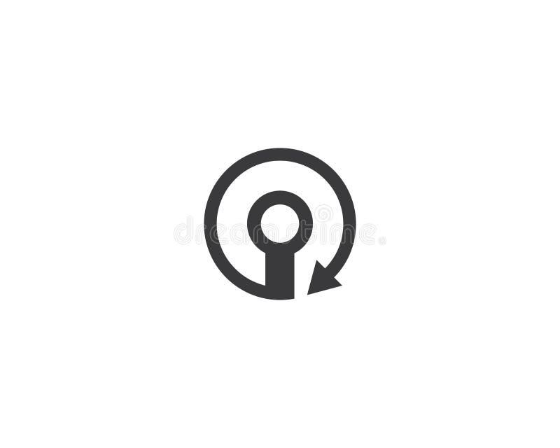 Fio, ícone do logotipo do cabo ilustração stock