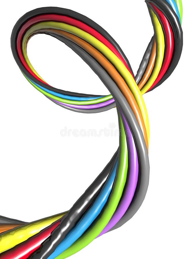 Fio colorido abstrato ilustração do vetor