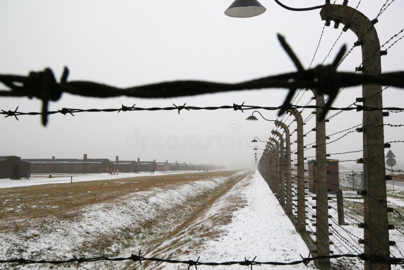 Fio de Barb em um acampamento alemão do prisioneiro de WWII imagem de stock royalty free