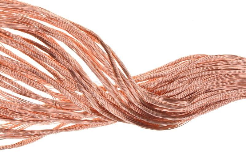 Fio de cobre imagem de stock