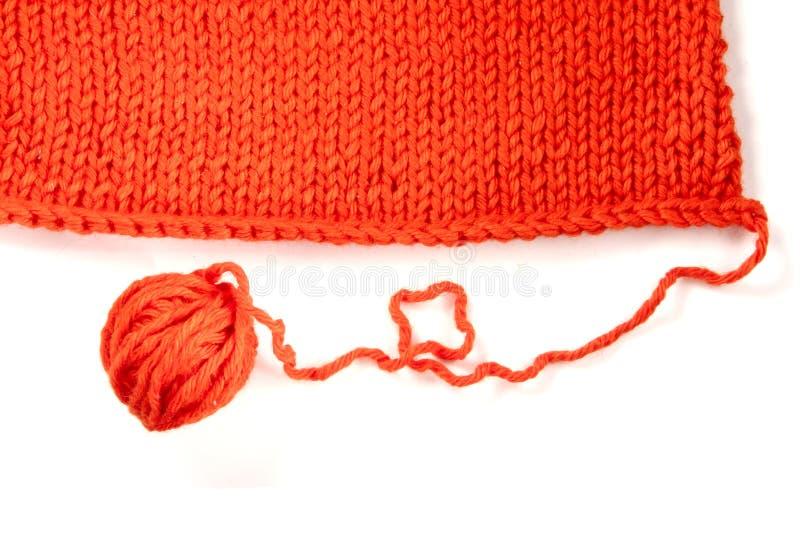Fio de lãs e matéria têxtil feita malha fotos de stock royalty free