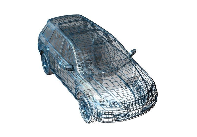 Fio do carro ilustração stock