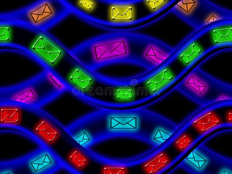 Fio virtual do Internet ilustração royalty free