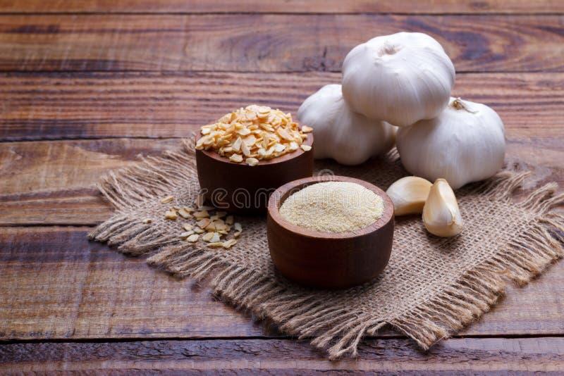 Fiocchi asciutti dell'aglio immagini stock libere da diritti