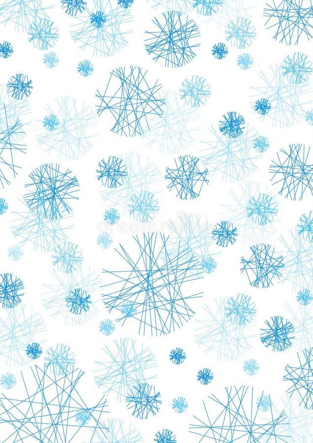 Fiocchi concettuali della neve fotografia stock