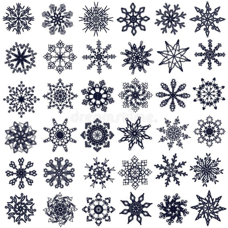 Fiocchi di neve. illustrazione vettoriale