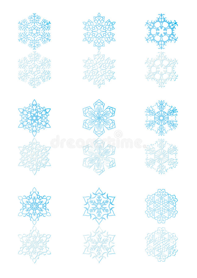 Fiocchi di neve 5 illustrazione di stock