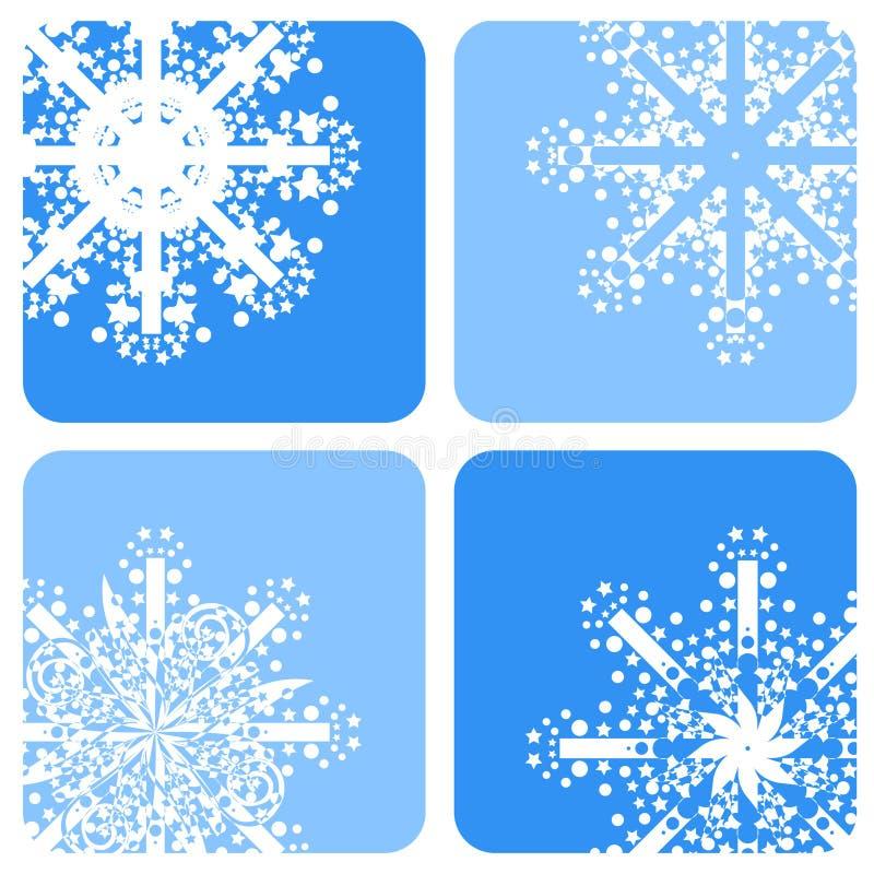 Fiocchi di neve illustrazione di stock