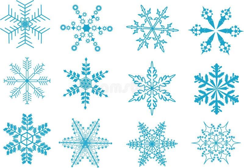 Download Fiocchi di neve illustrazione vettoriale. Illustrazione di decorazione - 7305522