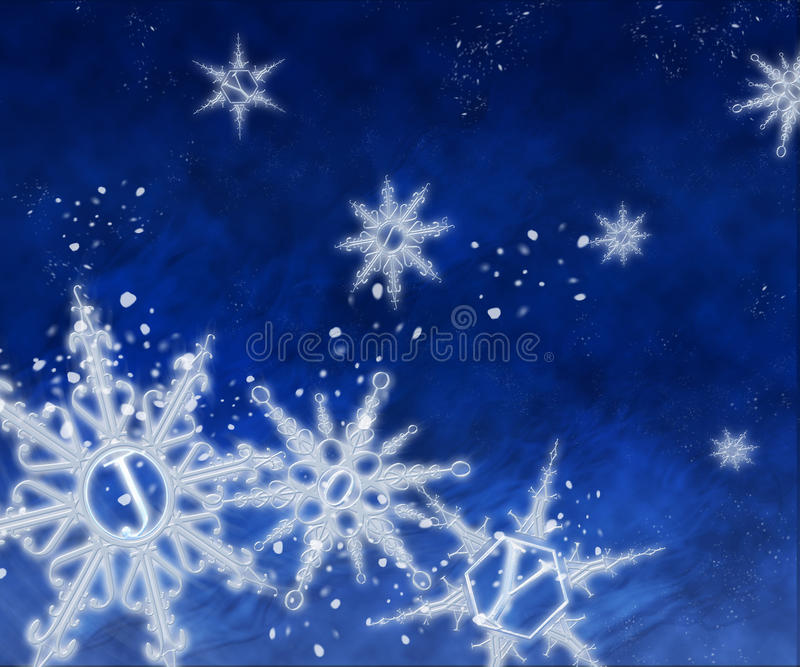 Fiocchi di neve allegri fotografie stock