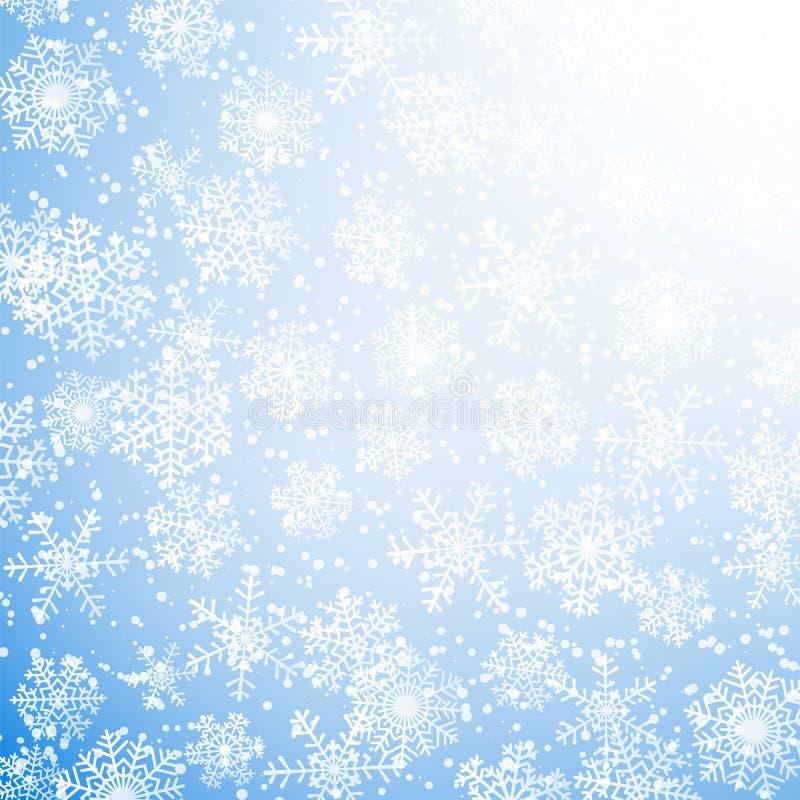 Fiocchi di neve caduti royalty illustrazione gratis