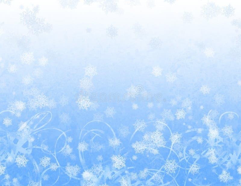 Fiocchi di neve capricciosi illustrazione di stock