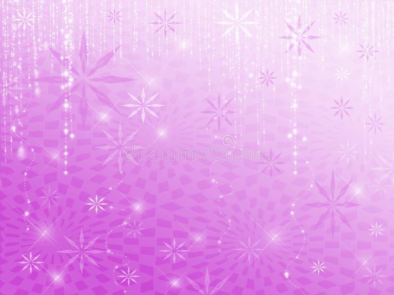 Fiocchi di neve della scintilla viola illustrazione vettoriale