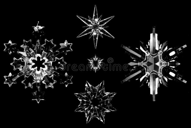 Fiocchi di neve di cristallo immagini stock