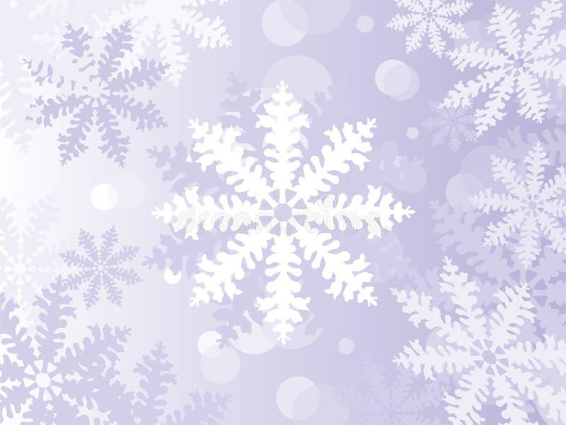 Fiocchi di neve di inverno illustrazione di stock