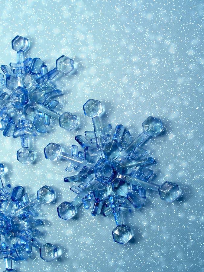 Fiocchi di neve di natale fotografie stock libere da diritti
