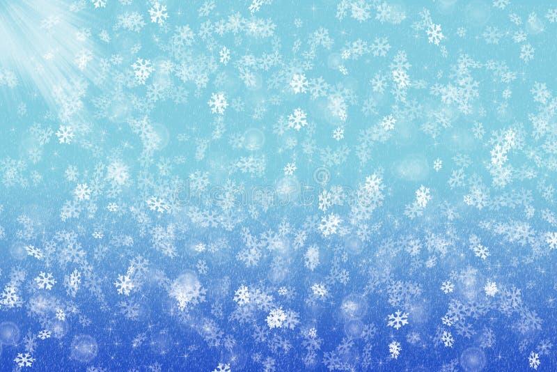 fiocchi di neve ed abbagliamento immagine stock