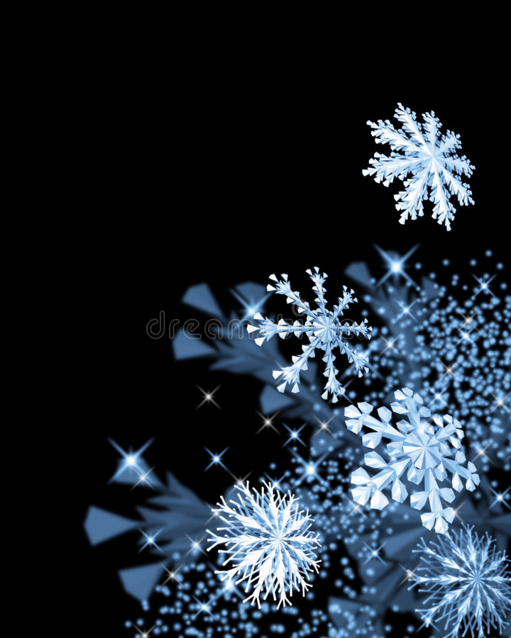 Fiocchi di neve festivi illustrazione di stock