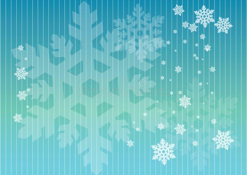 Fiocchi di neve nelle righe illustrazione di stock
