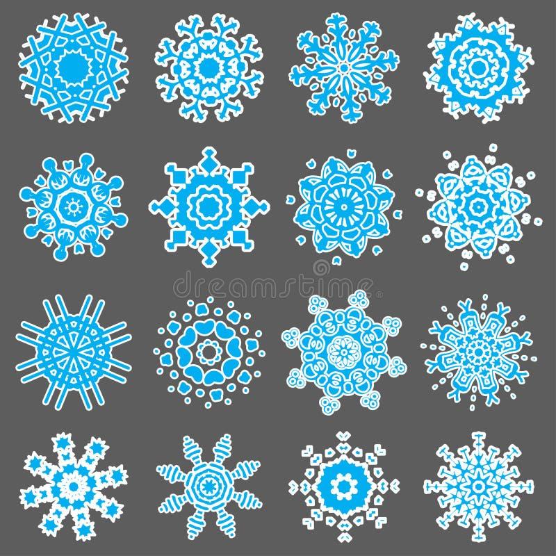 Fiocchi di neve per l'illustrazione di disegno royalty illustrazione gratis