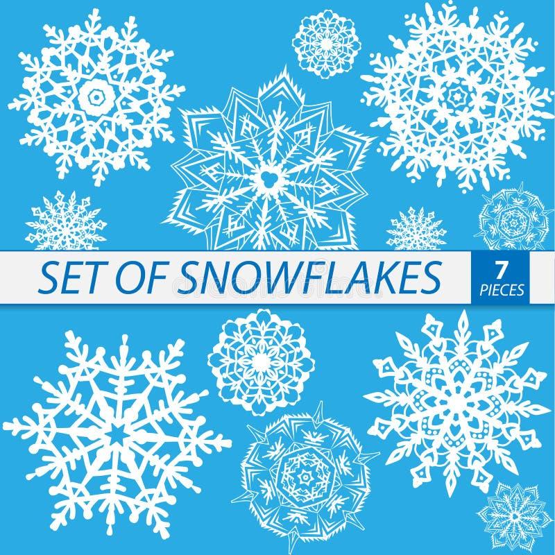 Fiocchi di neve per l'illustrazione di disegno Immagine isolata di vettore royalty illustrazione gratis